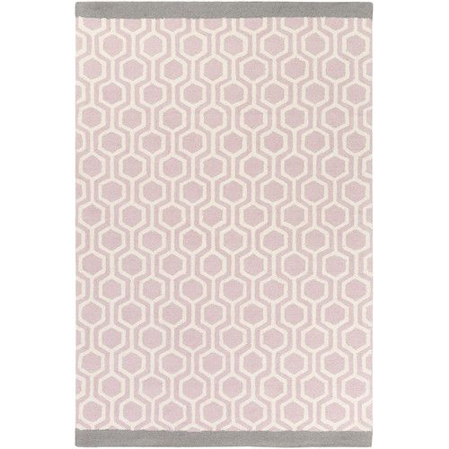 Found It At Wayfair Hilda Eva Hand Crafted Light Pink Gray Area Rug Grey Area Rug Area Rugs Light Crafts