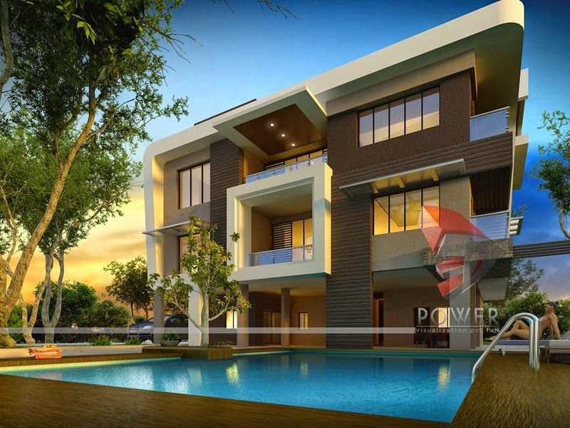 Contemporary Bungalow Design Plan With Swimming