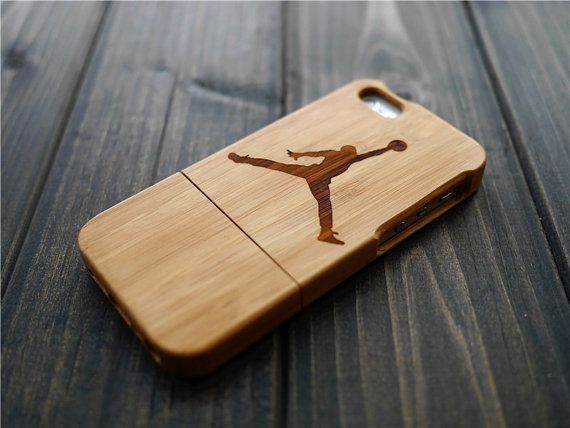 Dark Bamboo Jordan Wood iPhone 5 5s Case  Wood by BlessingCard