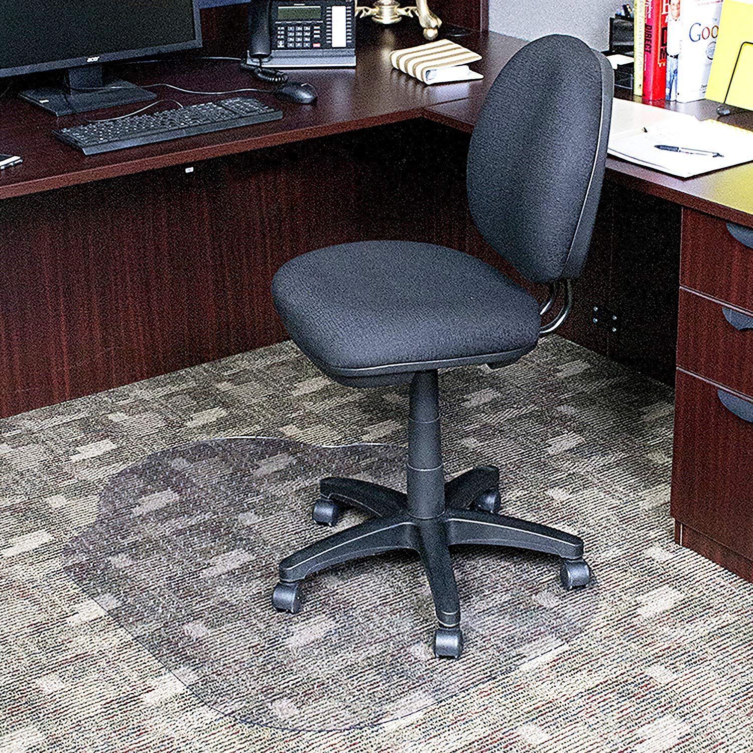 Evolve Modern Shape 33 x 44 Clear Office Chair Mat with