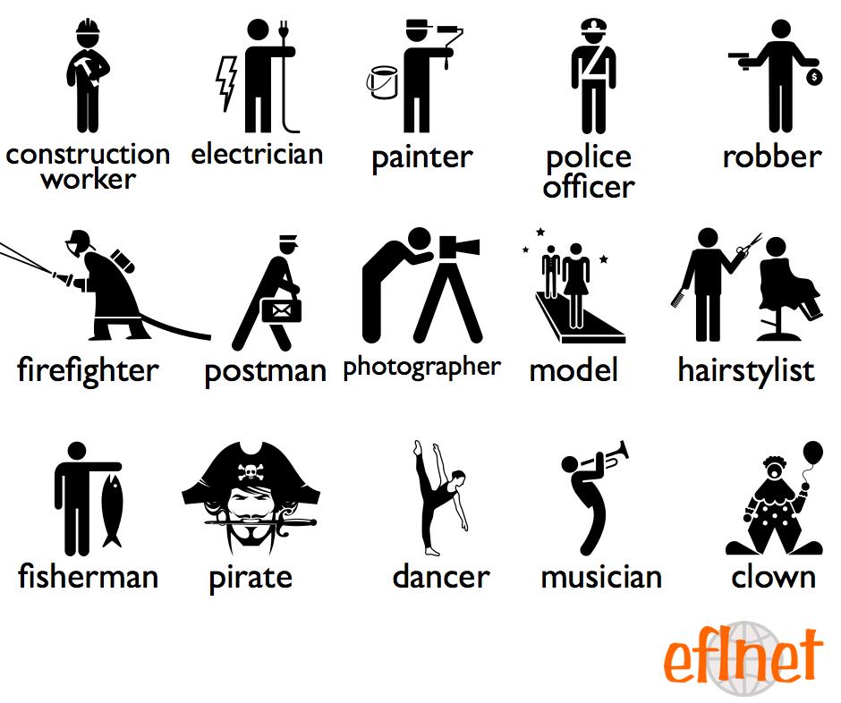 Occupations 2 - Worksheets | EFLnet | EFL/ESL Vocabulary ...