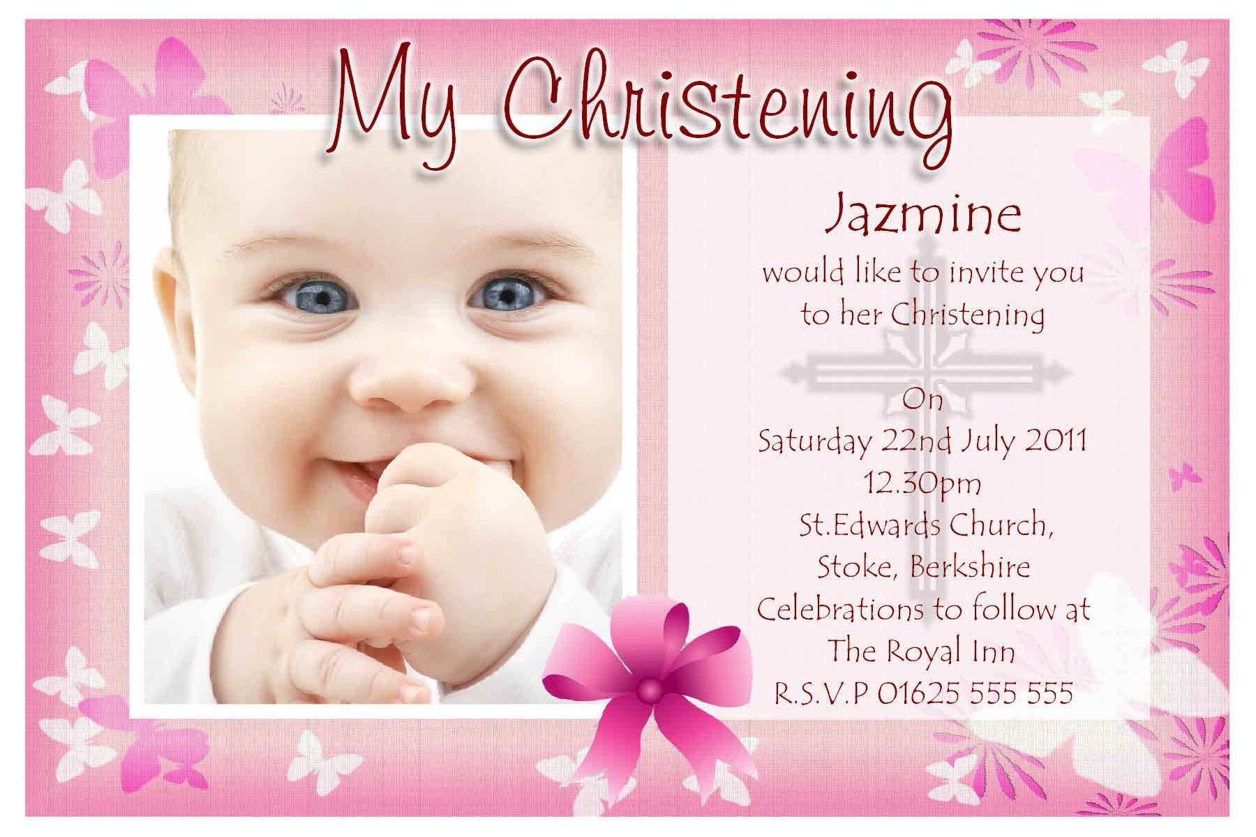 Baby Christening Invitation Templates | Stuff to Buy | Pinterest ...