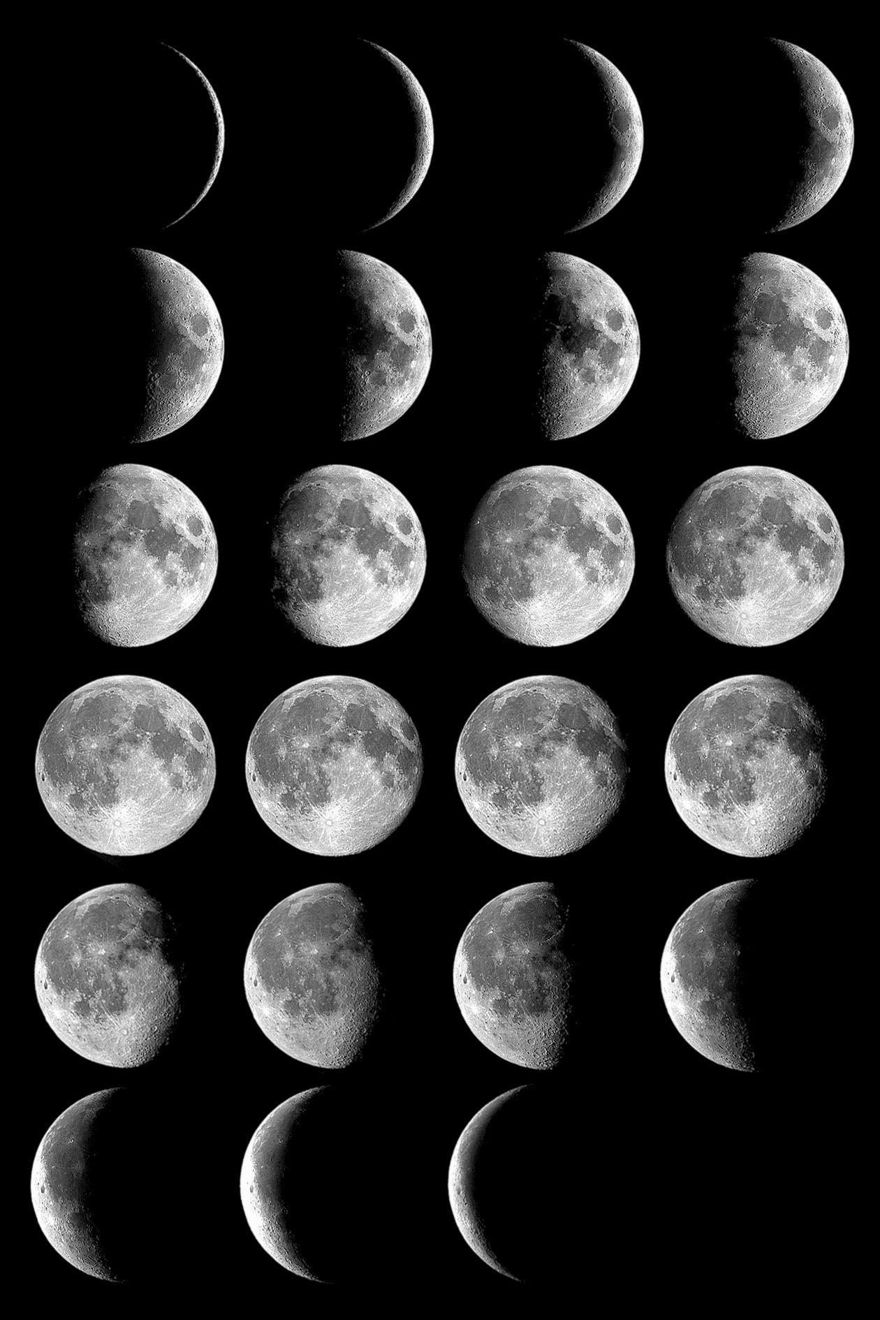 Phases Fases De La Luna Luna Fondos De Pantalla Luz De La Luna