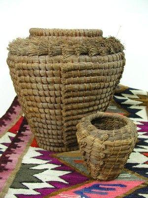 Vintage Large Native American Indian Pine Needle Basket Pine Needle Baskets Native American Baskets Basket