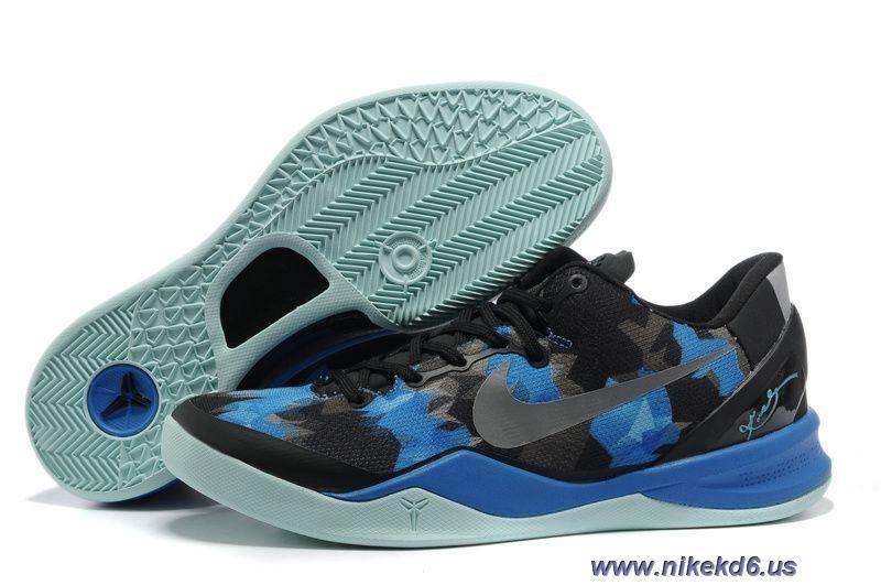 Discounts 555035 707 Black Blue Jade Basketball Shoes Style Nike Zoom Kobe 8 VIII