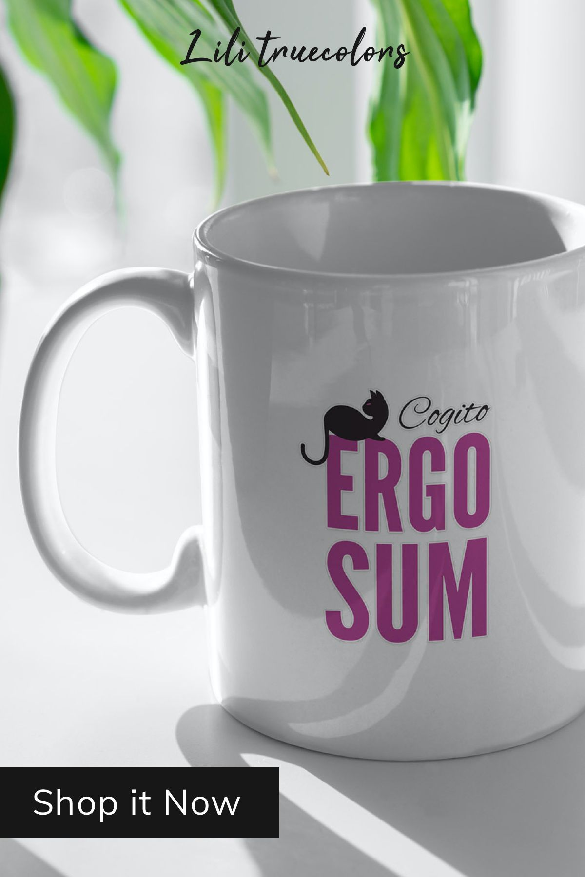 Cogito Ergo Sum Purple Mug By Lilitruecolors Gifts For Female Coworkers Cogito Ergo Sum Girlfriend Gifts