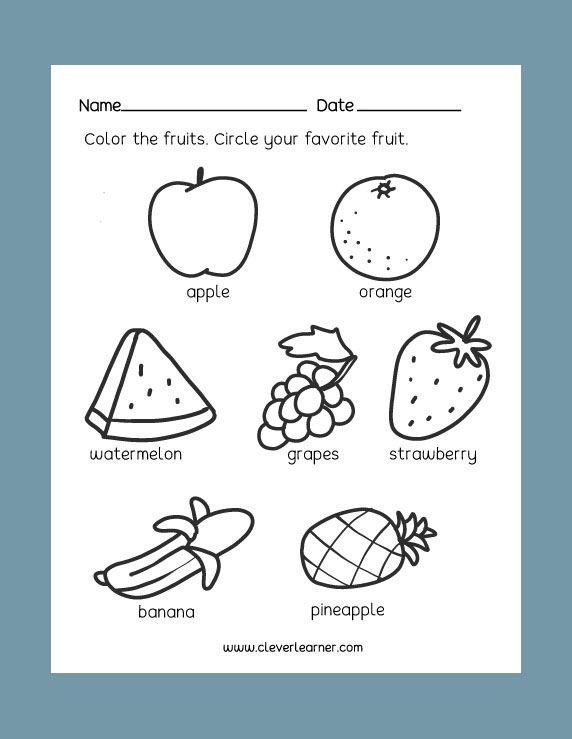 Free Preschool Science Worksheets: Healthy and Unhealthy Foods ...