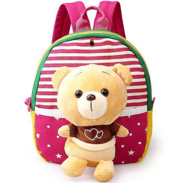 716607e82acb Children Backpack Kindergarten Backpack School Bags Cute Cartoon Bear  Infant Backpacks For Baby Girl Kids Bags BB41