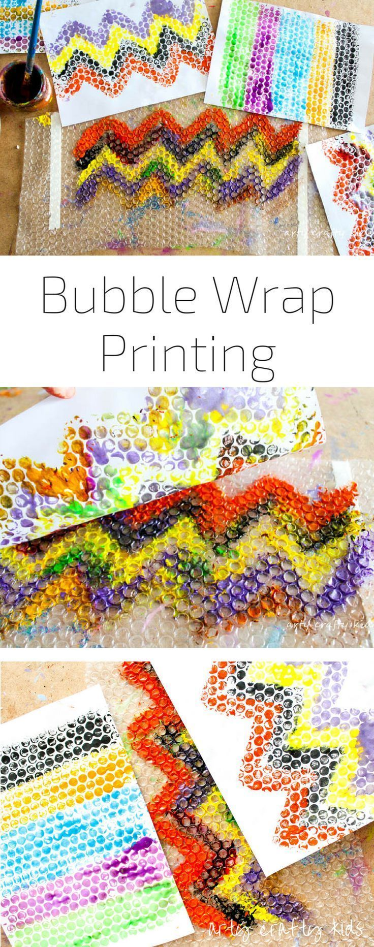 Arty Crafty Kids | Art | Bubble Wrap Printing | An easy and fun art process for kids!