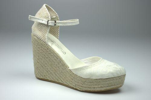 zapatos de novia andrea encaje crudo - romance - eduard castillo