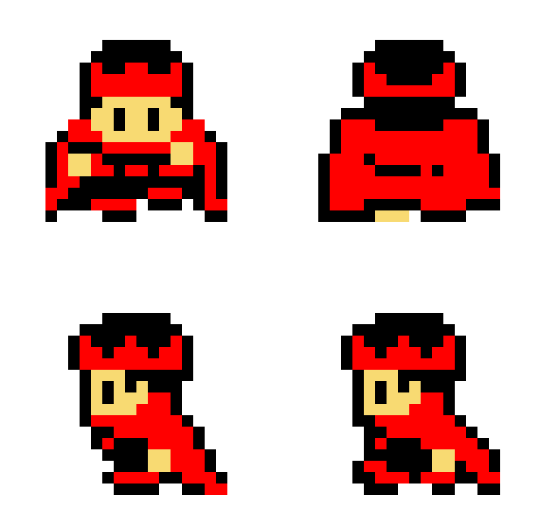 8 bit character king sprite useful to keep in mind for