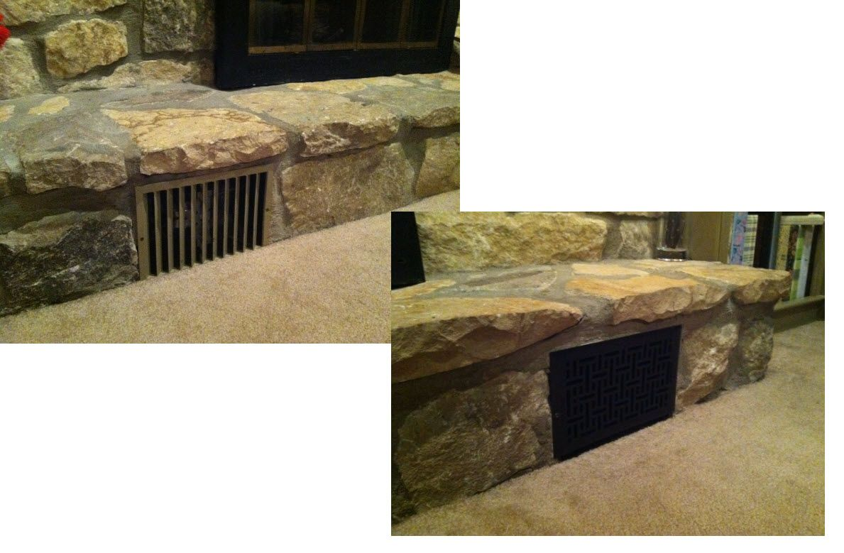 The intake vents on our fireplace have always annoyed me