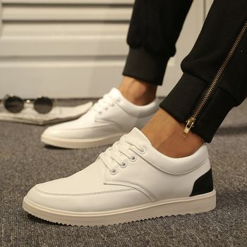 fashion style pu leather men shoes comfortable brand