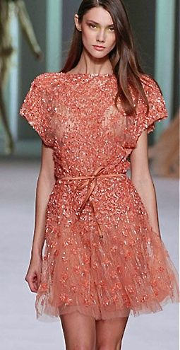 Beautifully embellished dress and the colour is gorgeous!
