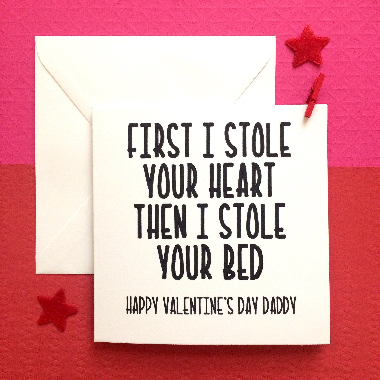 Daddy Valentine From Kid, Valentines Card Daddy, First