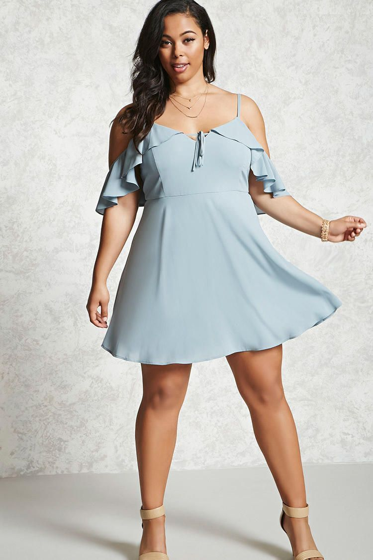Plus Size Open-Shoulder Dress from Forever 21. Saved to Summer ...