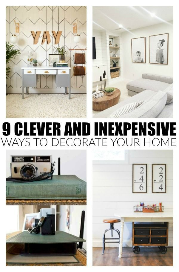 Clever And Inexpensive Ways To Decorate Your Home Cheap Home