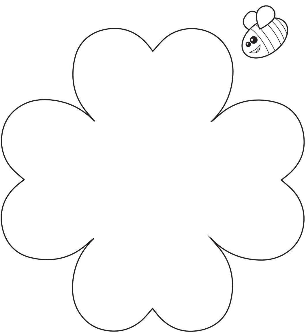 Heart Flower Craft Template Pdf Flower Crafts Paper Flowers For Kids Flower Template