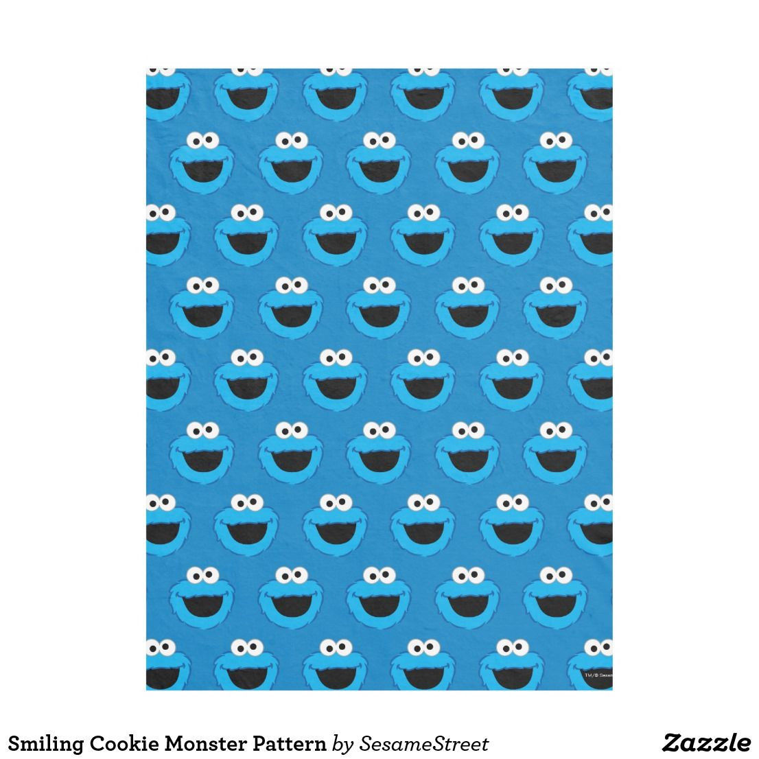 Smiling Cookie Monster Pattern Fleece Blanket Zazzle Com Monster Cookies Duvet Cover Pattern Fleece Blanket