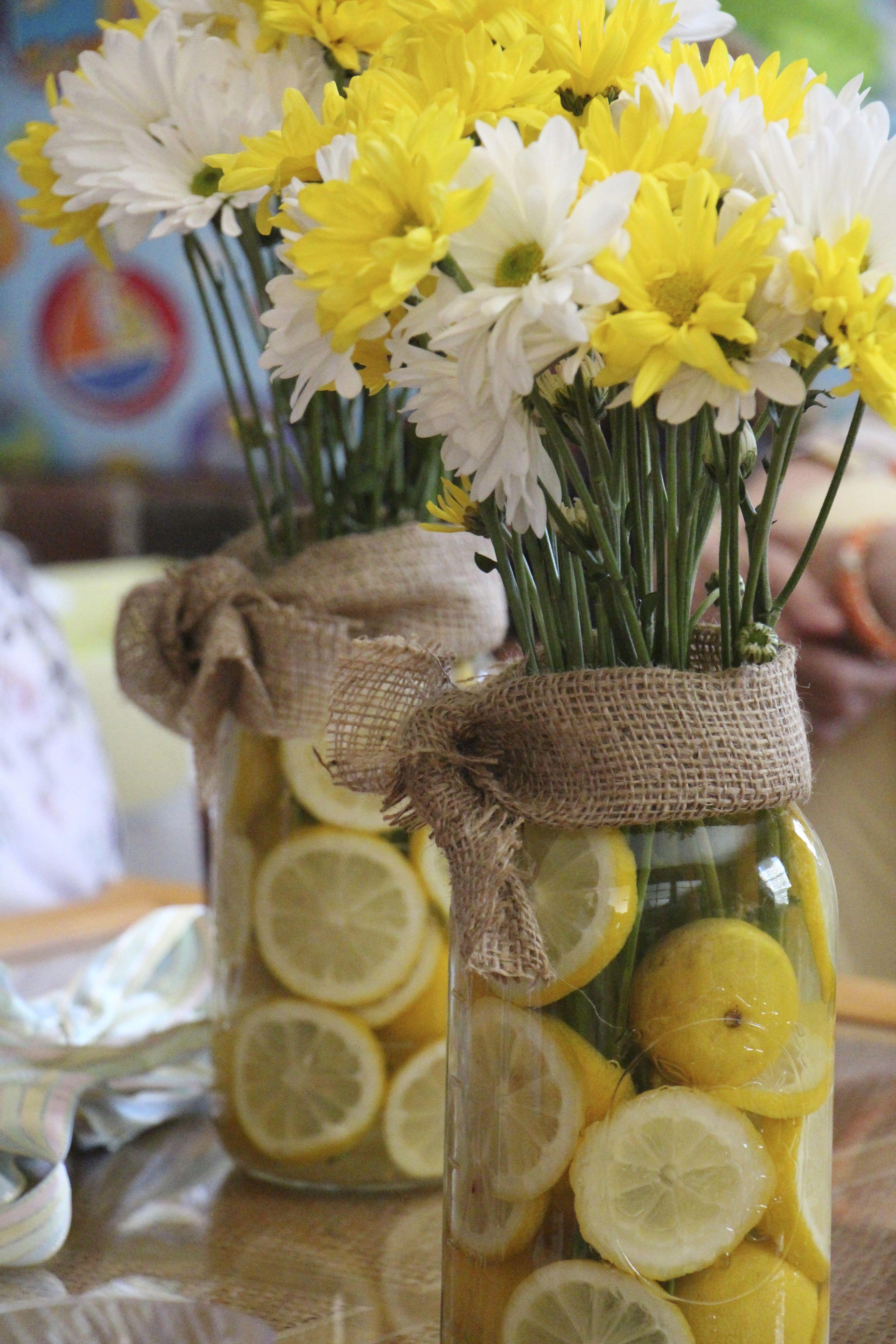 Lemon flower arrangement for baby shower baby pinterest lemon lemon flower arrangement for baby shower mightylinksfo