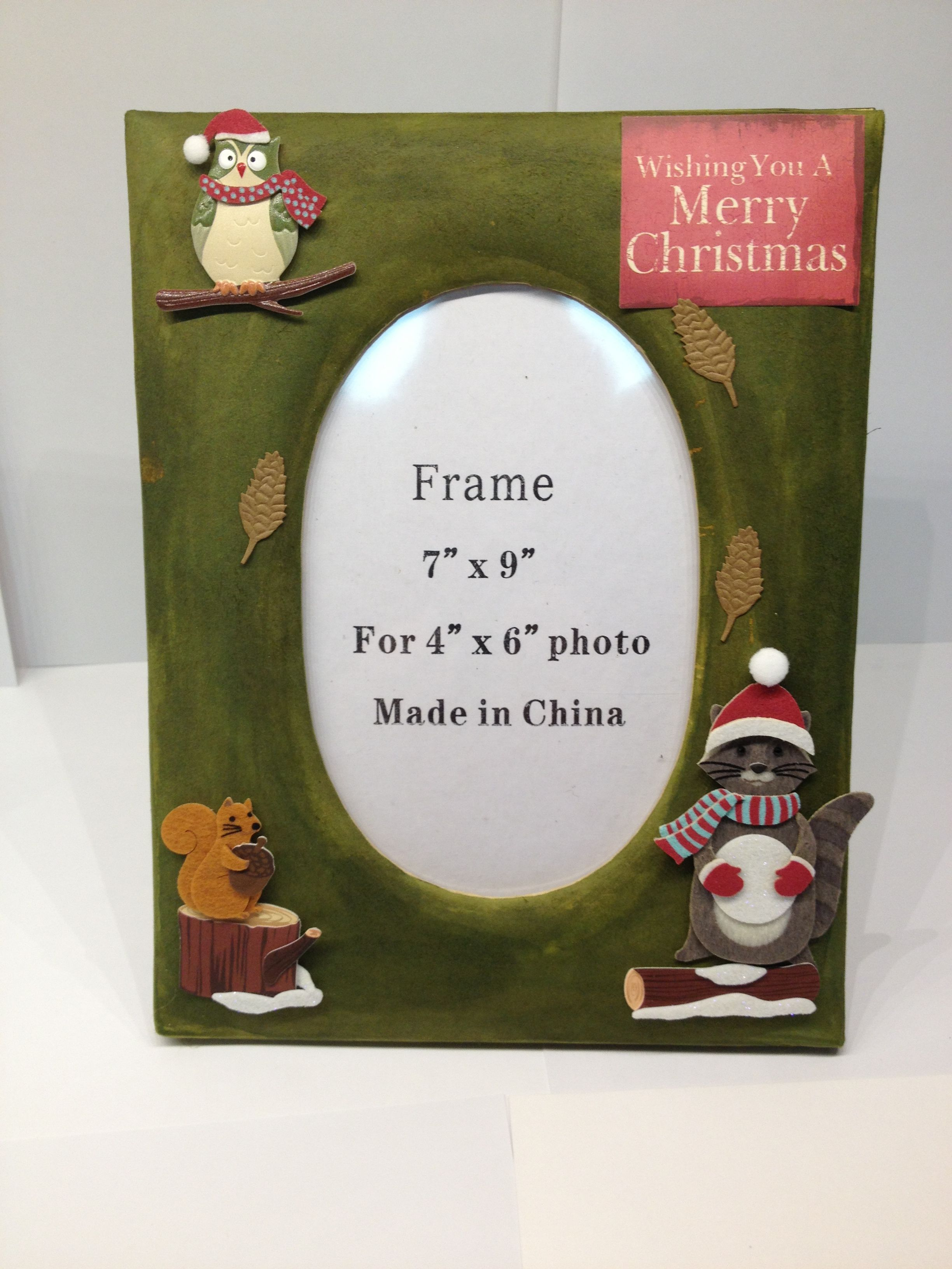 Rustic Christmas Picture Frame