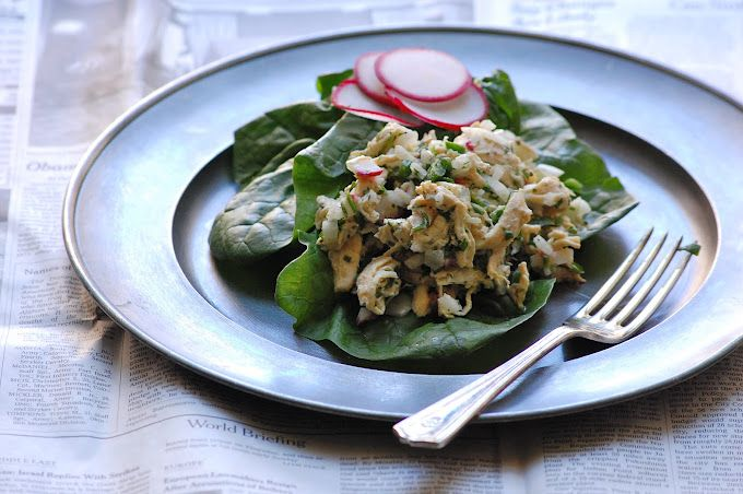 Cilantro (coriander) jalapeno chicken saald from palate