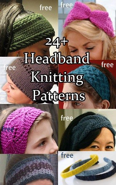 Headband And Headwrap Knitting Patterns Knitting Pinterest