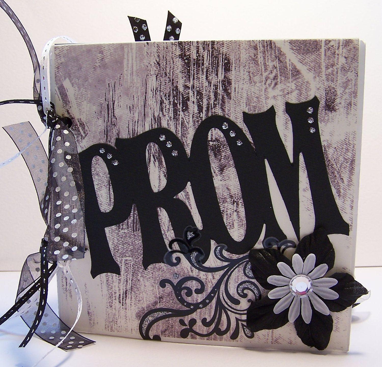How to scrapbook memories - Prom Scrapbook Album One Of A Kind Prom Memory Book
