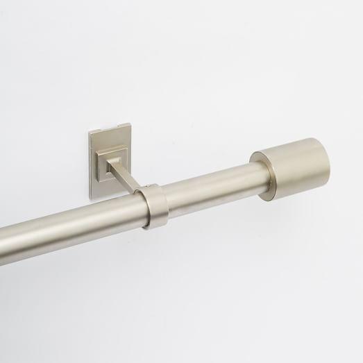 Oversized Adjustable Metal Rod - Brushed Nickel