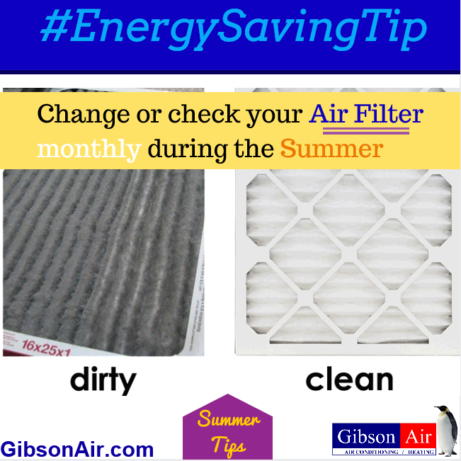Summer Energy Saving Tip: As the summer heat continues, make sure you're getting the most out of your Air Conditioner in the harsh Las Vegas heat! Visit www.gibsonair.com for more energy saving tips! #EnergyEfficiency