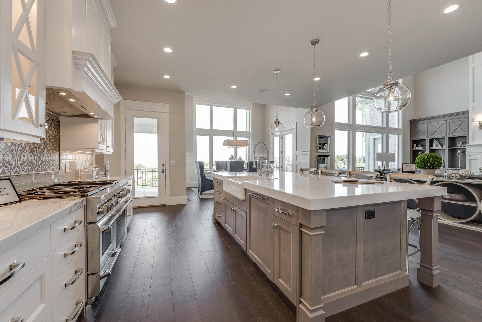 the living room cabinet shelves match the island the back counter and cabinets are different on kitchen island ideas kids id=67307