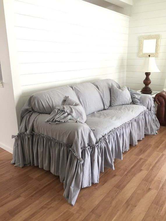 Slipcover Ruffled Slipcover Sofa Cover Sofa Scarf