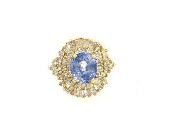 14k Gold 2.05ctw Diamond 3.6ct Ceylon Sapphire Ring Featured in our upcoming auction on November 2, 2015 11:00AM EST!