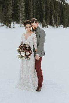 This Dress Is So Pretty I Think It Would Work Lake Louise Wedding Photographers Winter Snowwinter Attireoutdoor