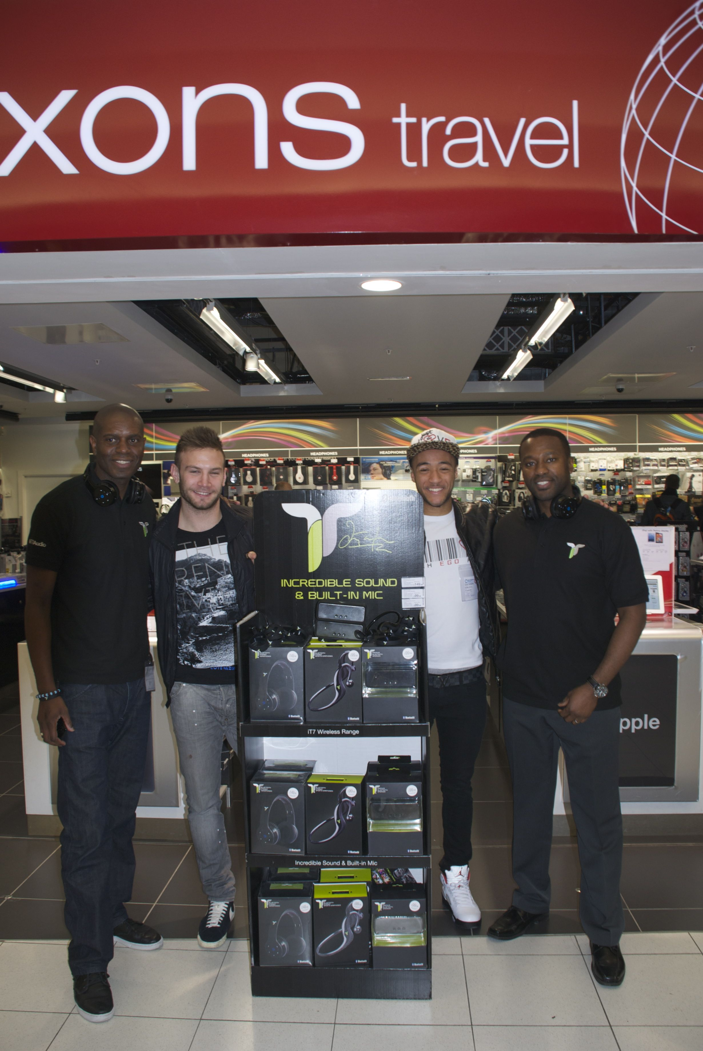 Nathan Redmond, Ian Taylor and Andreas Weimann at the Dixons