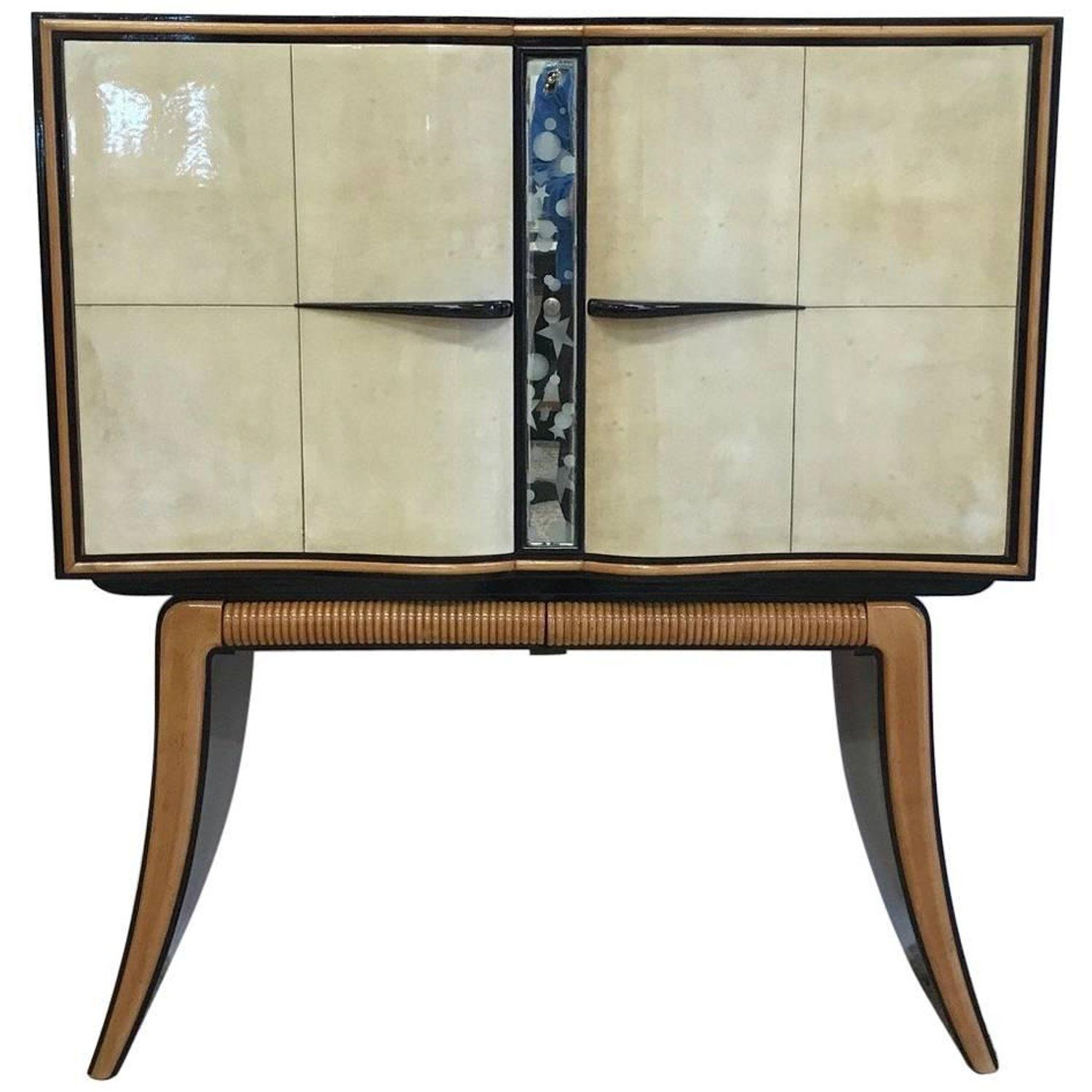 Fine Parchment And Maple Bar Cabinet By Paolo Buffa Italy 1940 Mid Century Bar Cabinet Dry Bars Bar Cabinet