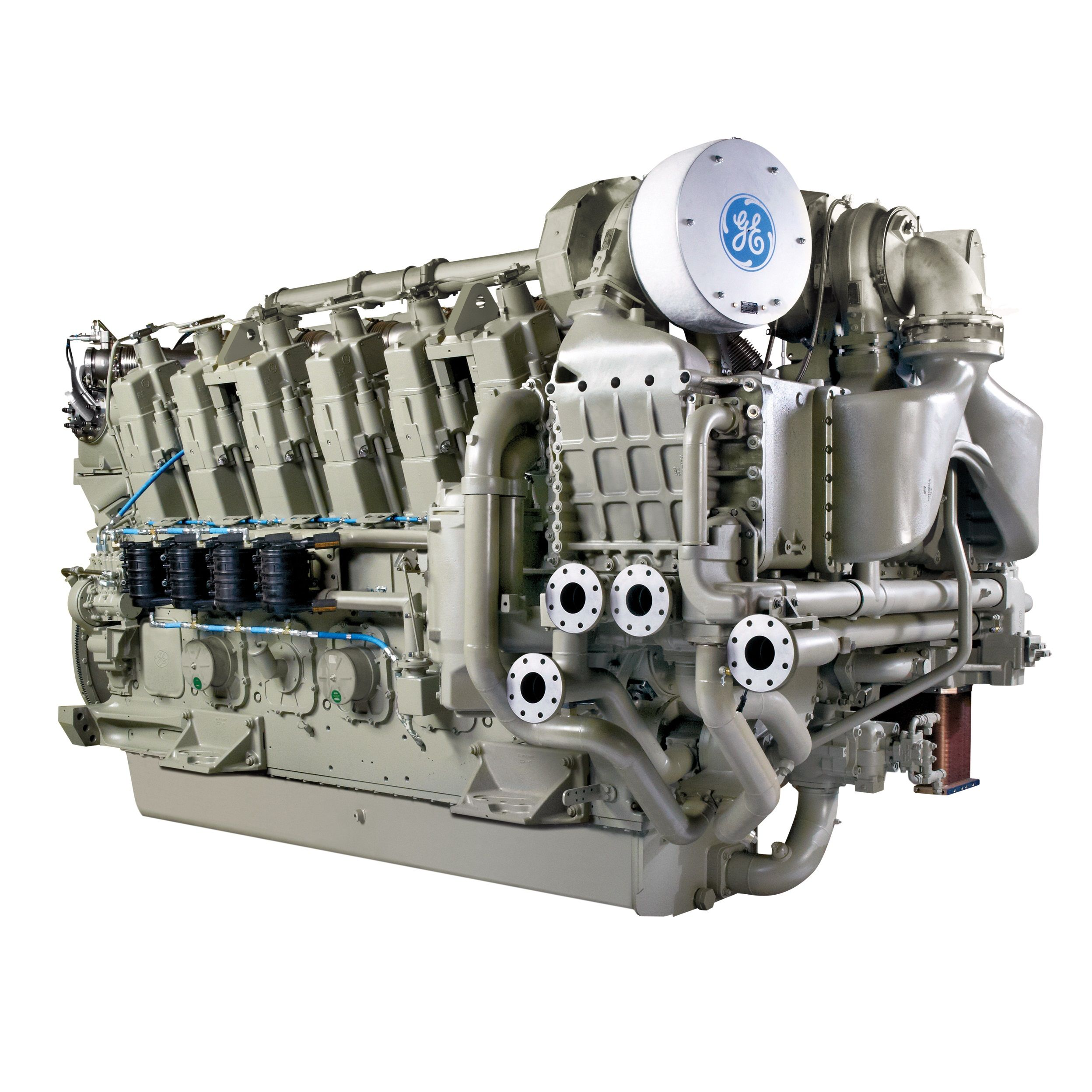 General electric 12 250 marine diesel engine iron age for General motors marine engines