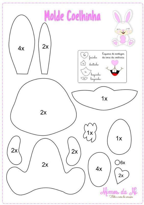 Lavoretti di Pasqua per bambini: pattern, cartamodelli di coniglietti pasquali