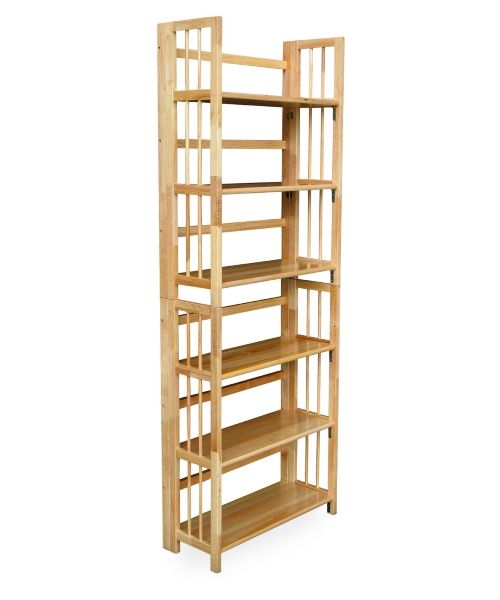 3 Tier Stackable Folding Bookcase Bookcase Wood Bookcase