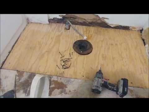 How To Repair A Rotted Floor Under The Toilet Youtube Bathroom Repair Mobile Home Repair Bathroom Flooring