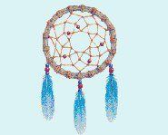 DIY Dream Catchers - Supplies Needed: Wood or metal ring, Suede lace, Sinew or cord string, beads and feathers.   1. Knot one end of the suede lacing on the metal ring. Make sure to leave four or five inches of lacing to hang the dreamcatcher before winding the suede tightly around the ring until it is entirely covered in suede.   Tie off the suede and knot the two remaining ends together to form a loop to hang the dreamcatcher on.