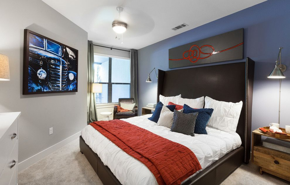 Light Grey Walls With Blue Accent Wall Google Search Blue