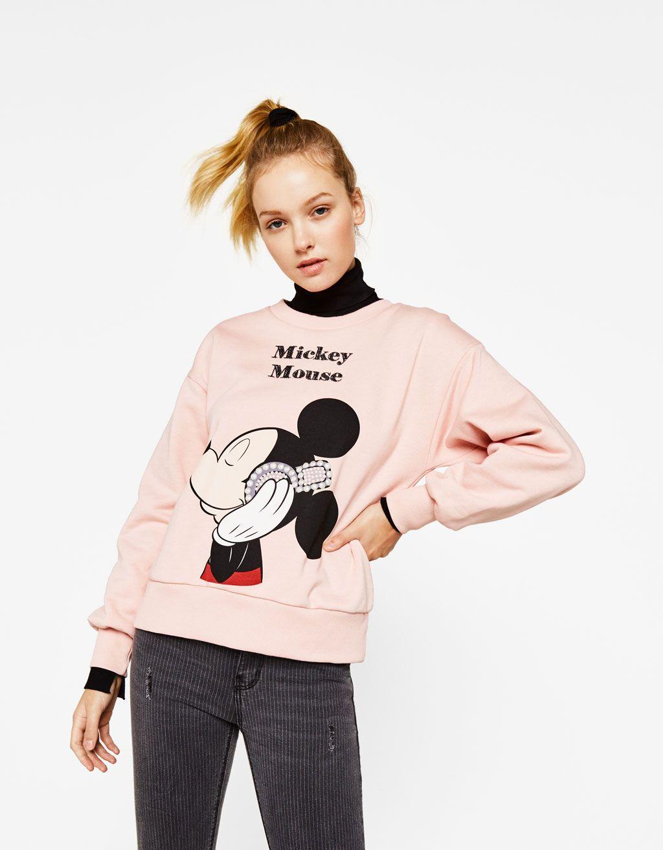a74de27f8bb Mickey print sweatshirt - Disney - Bershka United States