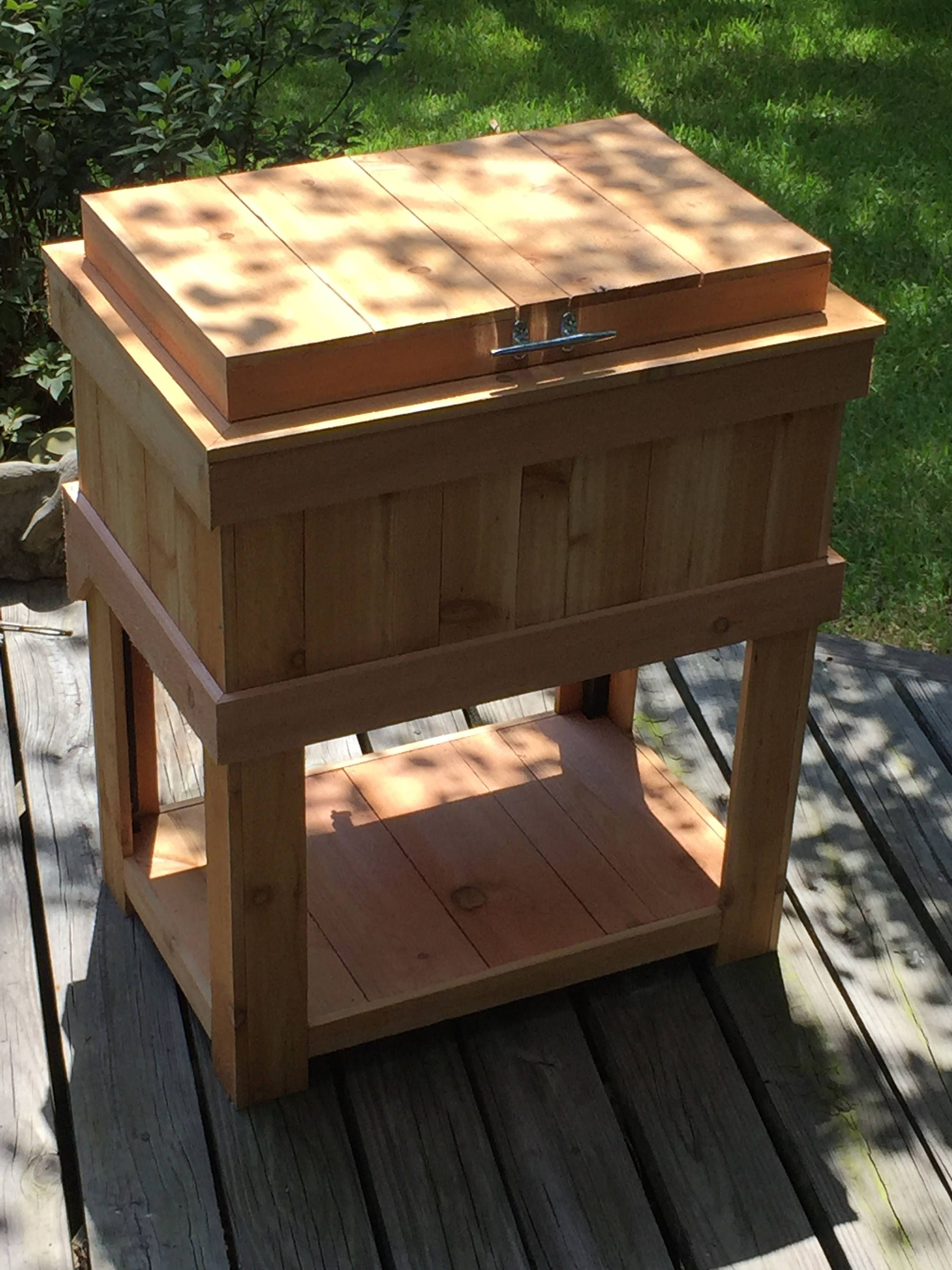 Red Cedar Patio Cooler Etsy Patio Cooler Patio Steps Gravel Patio Diy