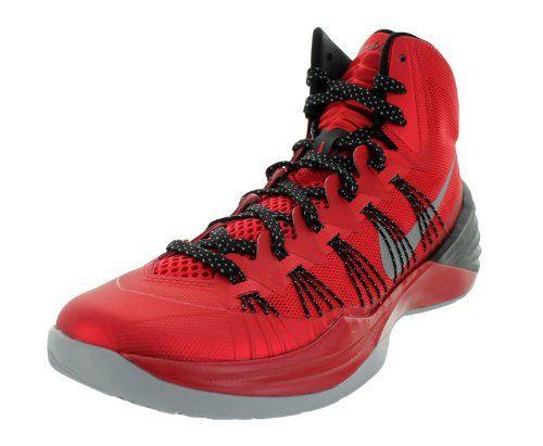 Nike Men\u0027s Hyperdunk 2013 University Red/Mtllc Slvr/Black Basketball Shoes  10.5 Men US