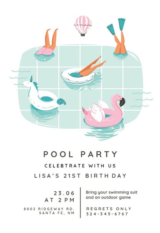 Photo of Chilling – Pool Party Invitation Template (Free) | Greetings Island