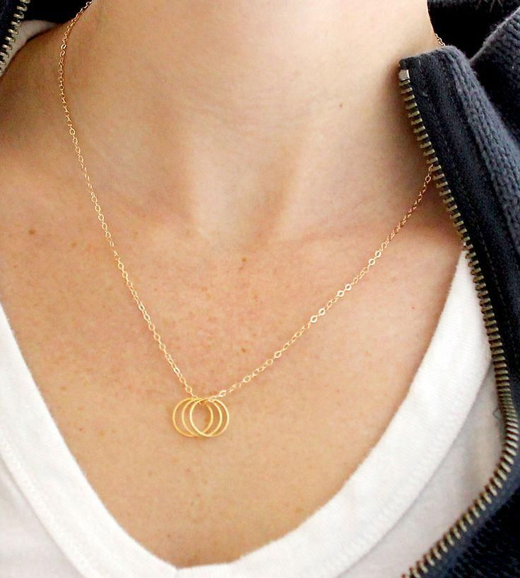 I love simple geometric pendants for everyday styles this three i love simple geometric pendants for everyday styles this three circles necklace is 19 aloadofball Images