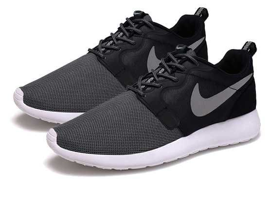 Explore Nike Roshe Run Hyperfuse QS Womens Grey Black Black Friday Sale