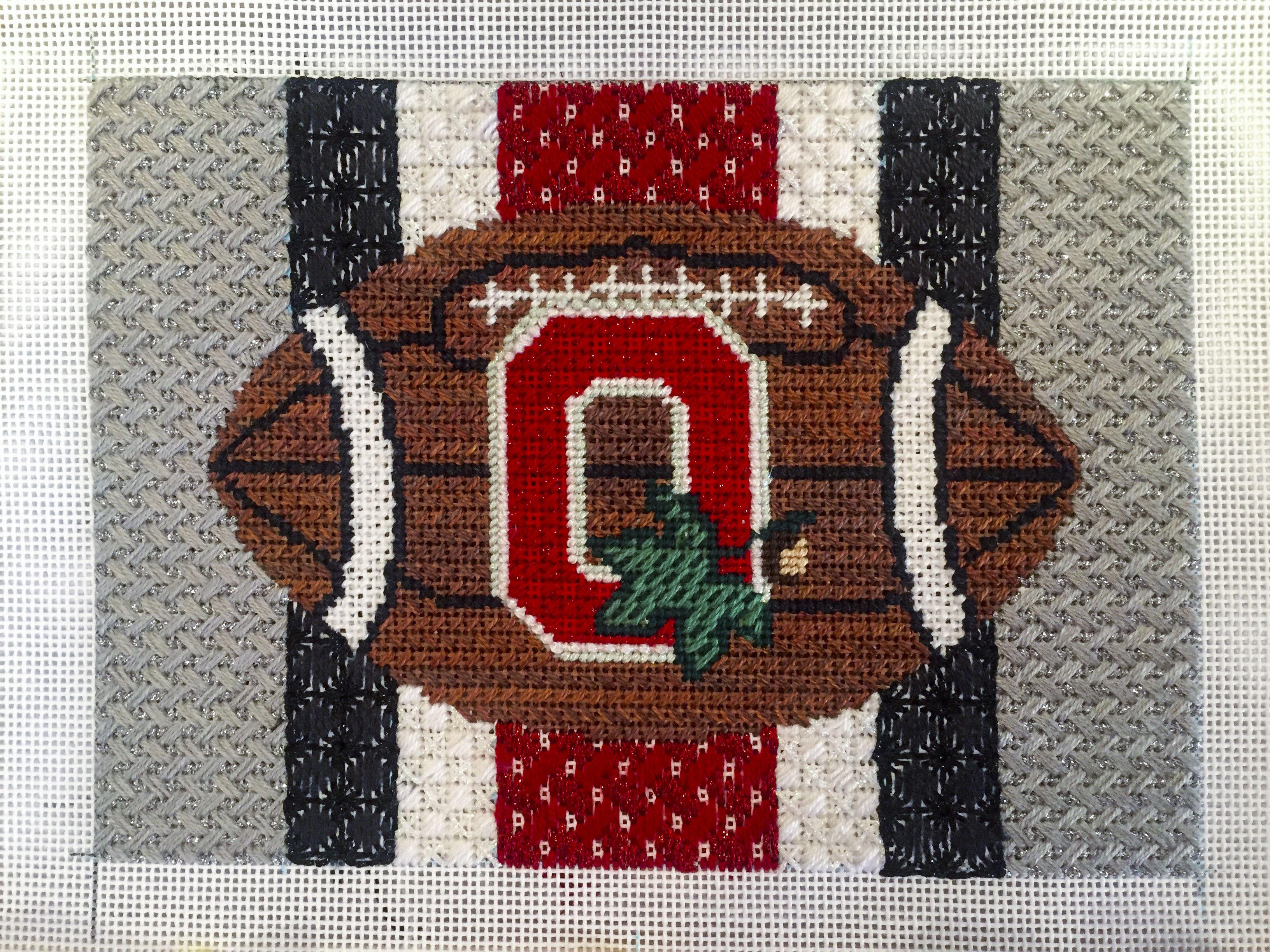 Needlepoint Ohio State Football Sports Buckeyes Ohio