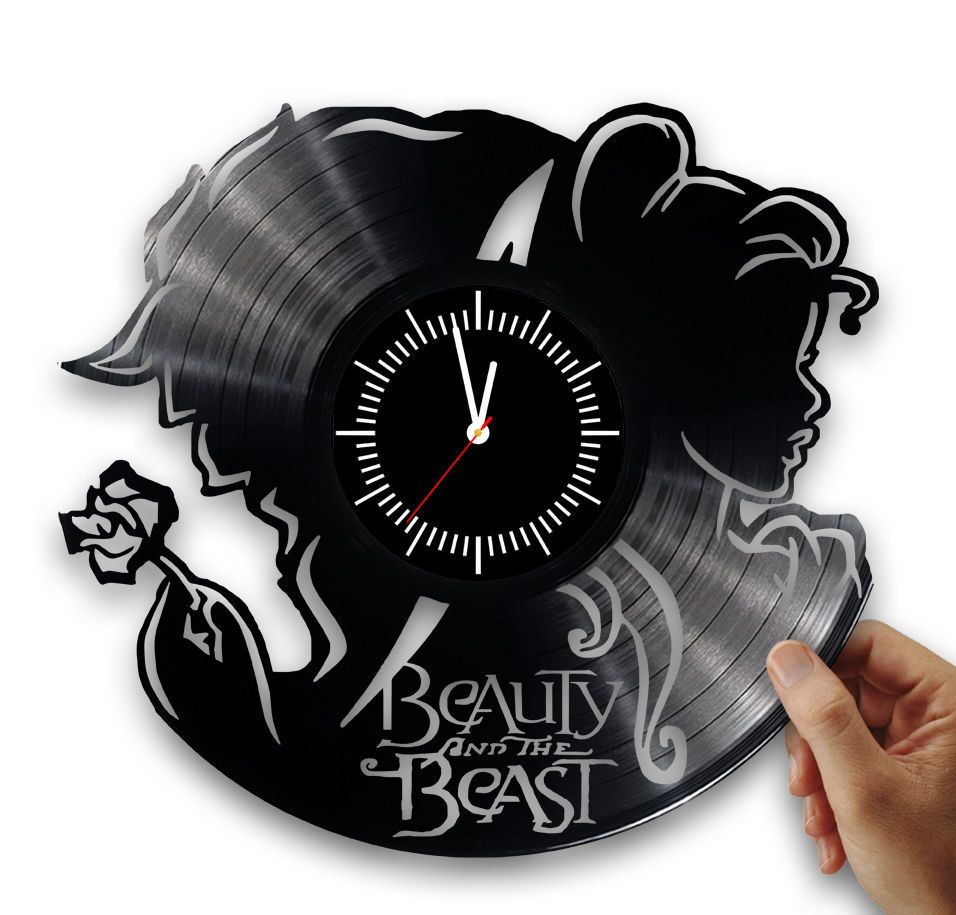 Beauty and the beast wall clock from vinyl record disney clock beauty and the beast wall clock from vinyl record disney clock disney wall art amipublicfo Choice Image